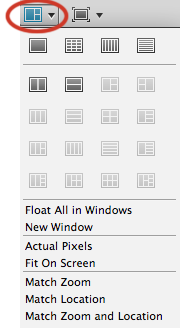 Photoshop CS4's arrange documents feature