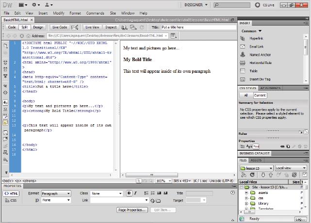 Dreamweaver tutorial: How websites work in Dreamweaver