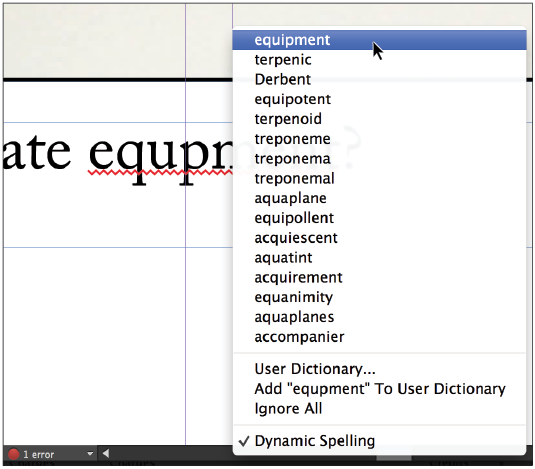 InDesign tutorial: Checking and correcting spelling in InDesign
