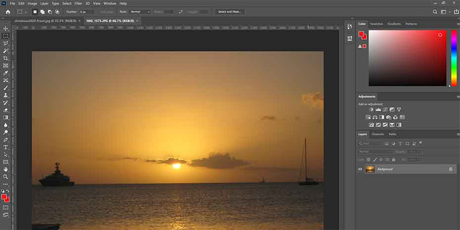 Image of lesson file from the best Photoshop classes for learning to use Photoshop.