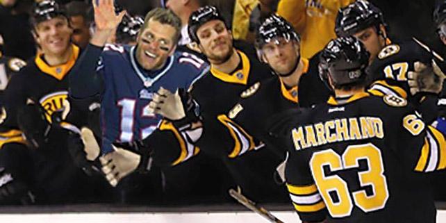 Boston Photoshop Superstar Tom Brady Joins the Bruins