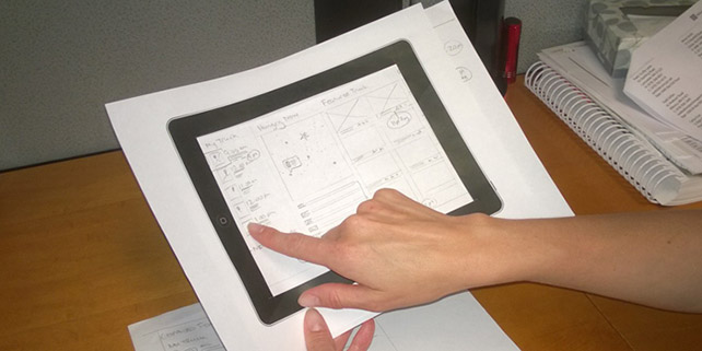 Paper prototyping for UX Design
