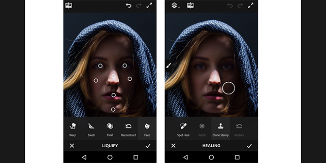 Photoshop for iPhone and Android