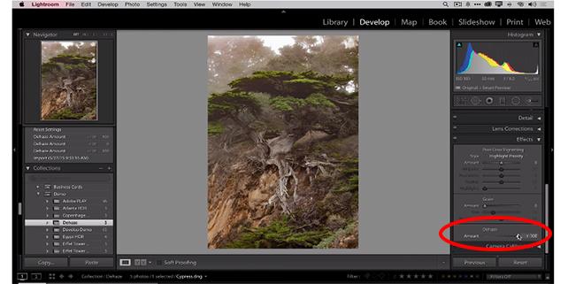 Photoshop Dehaze capability added to Lightroom