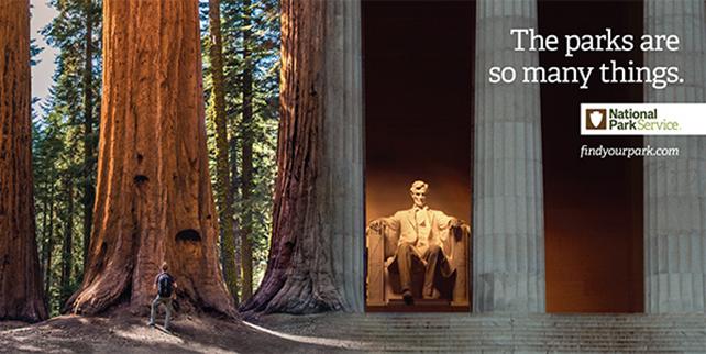 Photoshop work celebrates 100 Years of National Parks