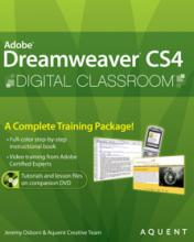 Dreamweaver CS4 Digital Classroom Book with video training