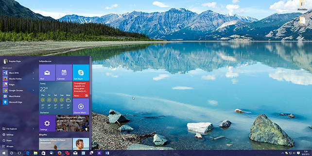 UX of Windows 10 start menu design receives award