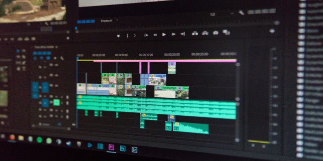 Image showing video editing app used by thos with video editing degrees or certificates.